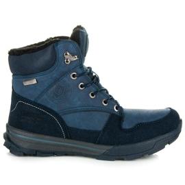 Mckeylor Damskie obuwie z futerkiem niebieskie