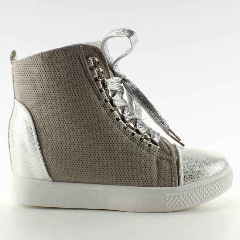 Sneakersy z łańcuszkami R72 Grey3 / Silver szare