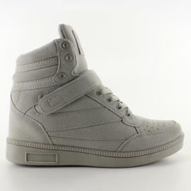 Zamszowe sneakersy Liluu XW33268 Grey Suede szare