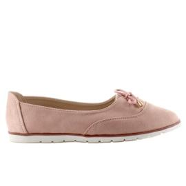 Zamszowe Jazzówki T239 Pink różowe