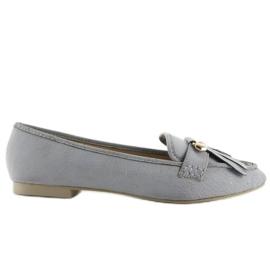 Szare Mokasyny w stylu vintage 3052 Grey
