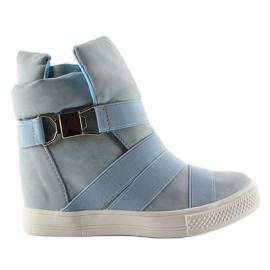 Niebieskie Sneakersy z gumowymi paskami AF24 Blue