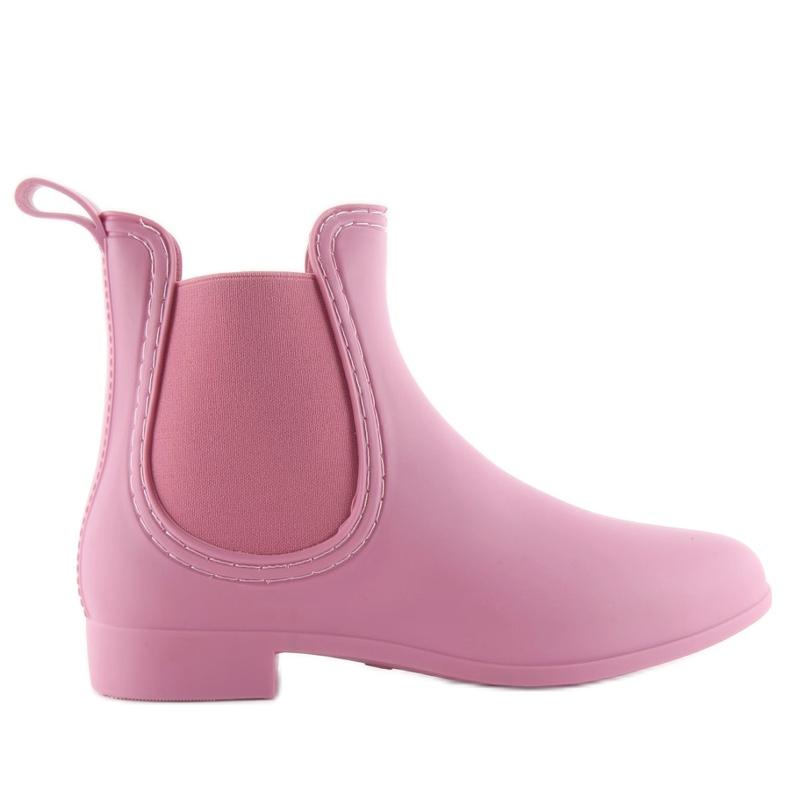 Kalosze damskie D24p pink różowe