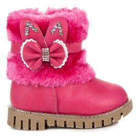 Ocieplane kozaki dla dziewczynki różowe