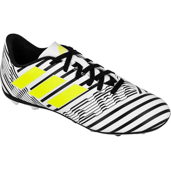Buty piłkarskie adidas Nemeziz 17.4 FxG Jr S82459 białe biały, czarny