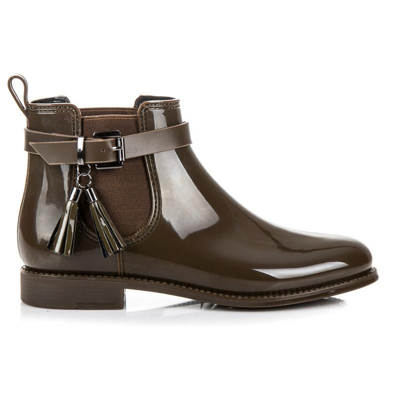 Ideal Shoes Kalosze Z Frędzlami zielone