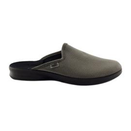 Befado obuwie męskie kapcie klapki 548M008 Szare