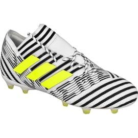 Buty piłkarskie adidas Nemeziz 17.1 Fg M BB6075 białe wielokolorowe