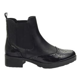 Caprice botki sztyblety buty damskie 25405 czarne