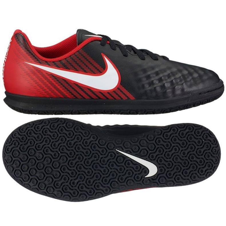Buty halowe Nike MagistaX Ola Ii Ic Jr czerwone