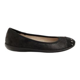 Befado obuwie damskie balerinki kapcie 309q015 czarne