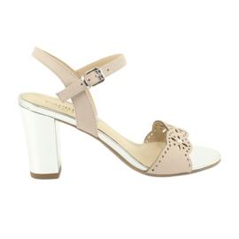 Caprice sandały buty damskie 28303 różowe