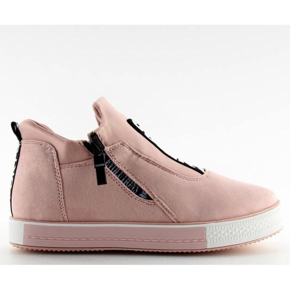 Trampki na koturnie różowe NB168 pink
