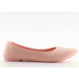 Balerinki damskie mięciutkie różowe pink