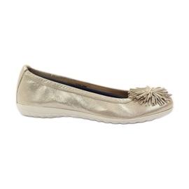 Żółte Caprice balerinki buty damskie 22116