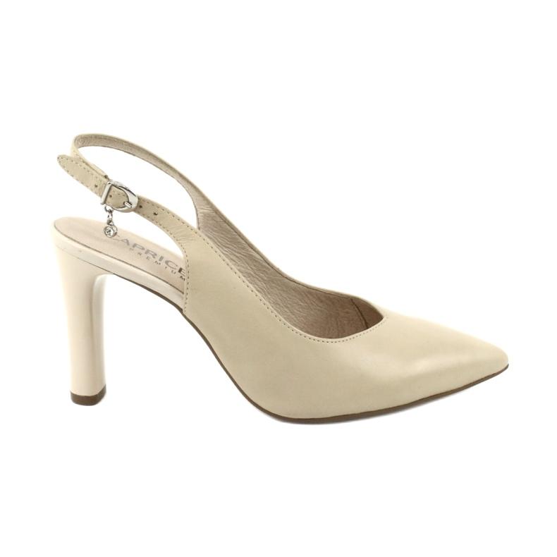 Caprice czółenka sandały buty damskie 29603 brązowe