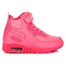 Hasby Neonowe buty nad kostkę różowe