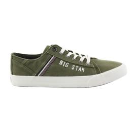 Trampki tenisówki Big star 174315 jeans khaki zielone