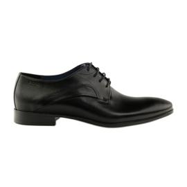 Półbuty pantofle do garnituru Badura 7589 czarne