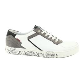 Buty sportowe Badura 3361 białe czarne szare