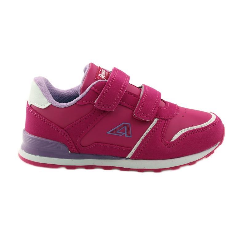 American Club Sportowy jogging American wkładka skórzana różowe