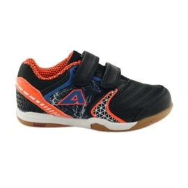 American Club ADI trampki halówki 170620 czarno, pomarańczowo, niebieskie