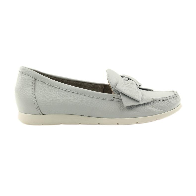 Caprice mokasyny buty damskie szare