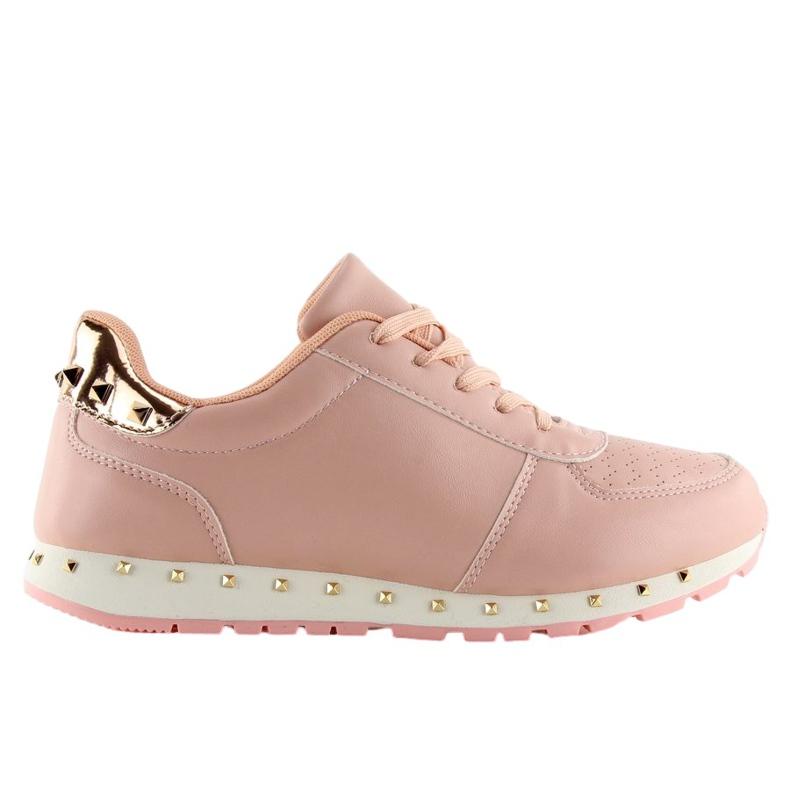Buty sportowe z ćwiekami różowe BK-85 Pink