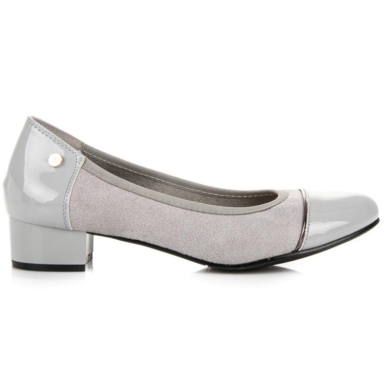 Vices Casualowe buty na niskim obcasie szare