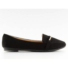 Mokasyny damskie czarne 9988-121 black