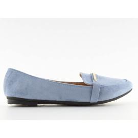 Mokasyny damskie niebieskie 9988-121 denim