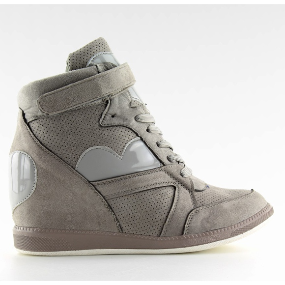 Sneakersy Damskie Szare 1542 Grey - Ii Gat