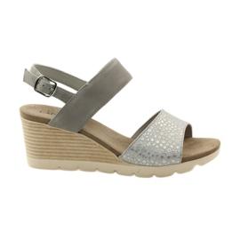 Caprice sandały buty damskie 28701 szare