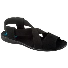 Wygodne czarne sandały damskie Adanex 17498