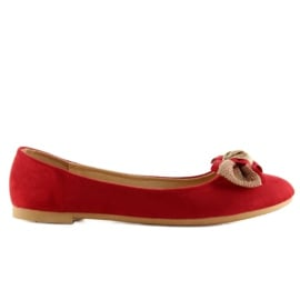 Balerinki damskie klasyczne czerwone vs-330 Red