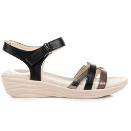 Kylie czarne Sandały Na Rzep