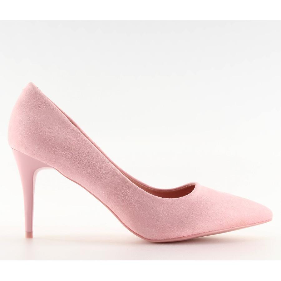 67e0eb78 Zamszowe szpilki Candy Shop różowe LEI-90 Pink - ButyModne.pl