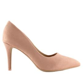 Szpilki damskie zamszowe różowe RS-GH31 Pink