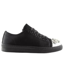 Trampki Z Kamieniami Czarne V-5502 Black