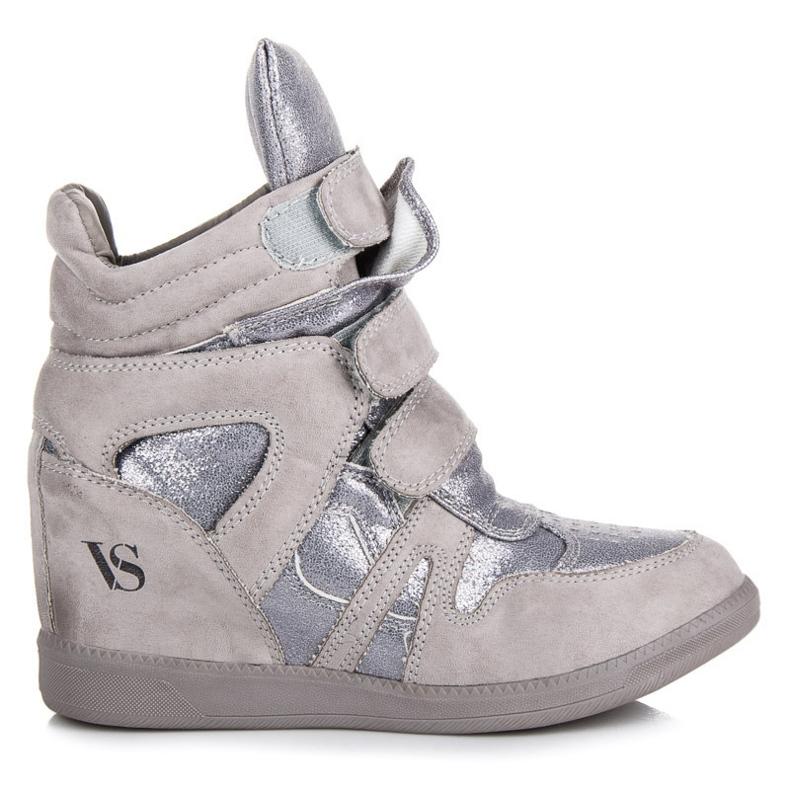 Sneakersy Na Rzepy VICES szare