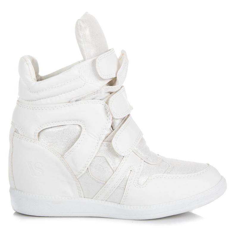 Sneakersy na rzepy vices białe