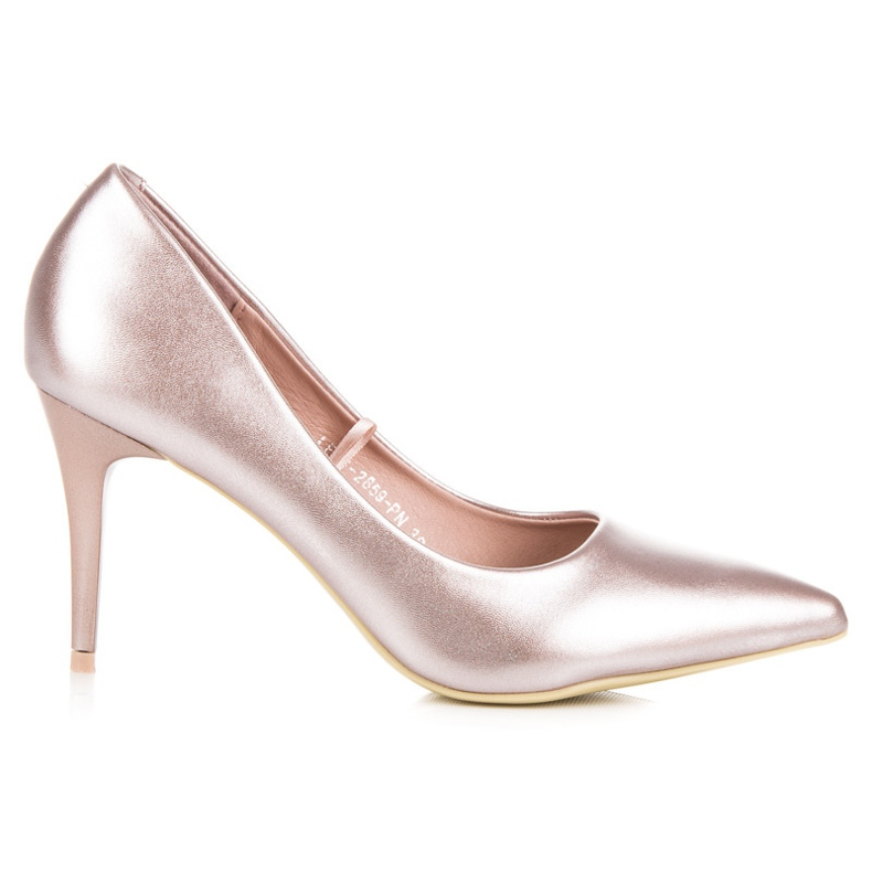 Vinceza Eleganckie perłowe szpilki różowe