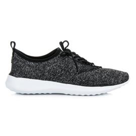 Tekstylne obuwie sportowe czarne