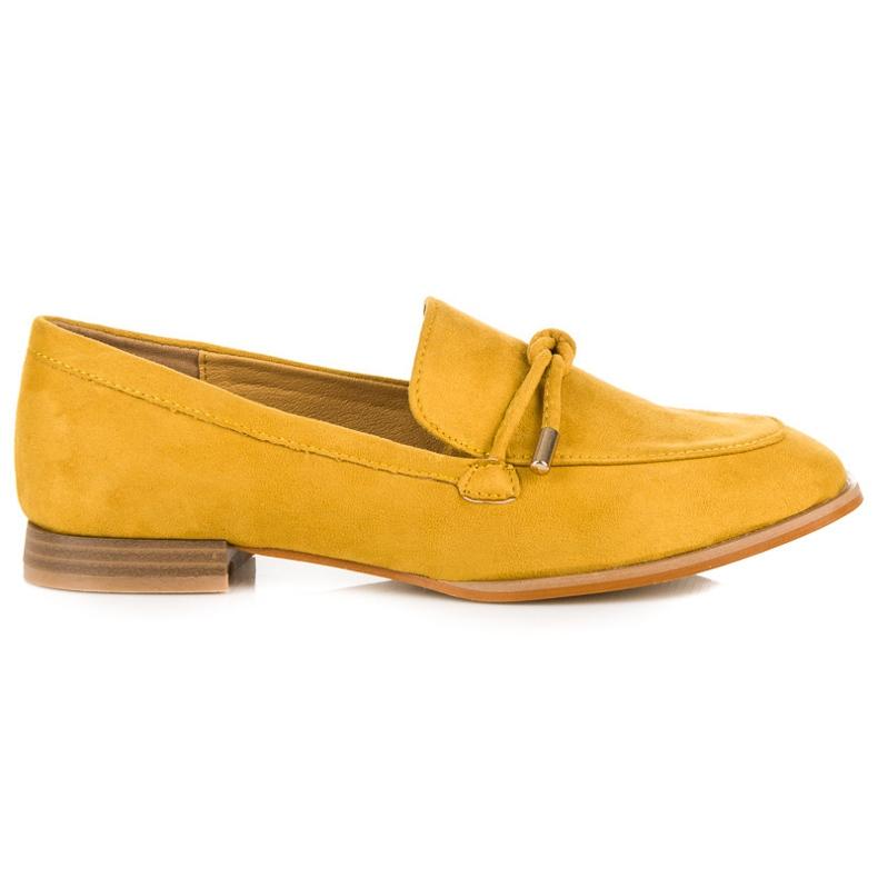 Vices Wiosenne mokasyny żółte