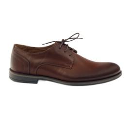 Riko buty męskie półbuty casual 838 brązowe