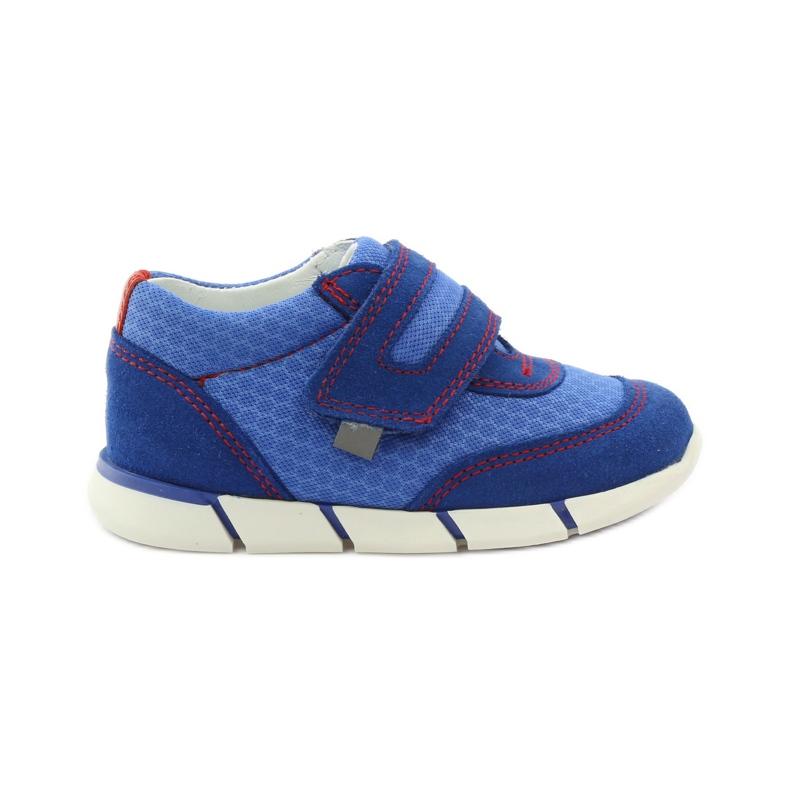 Buty sportowe trampki na rzep Bartek 31949 niebieskie