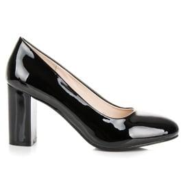 Lucky Shoes Lakierowane czarne czółenka