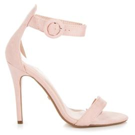 Seastar różowe Sandały Zapinane Na Sprzączkę