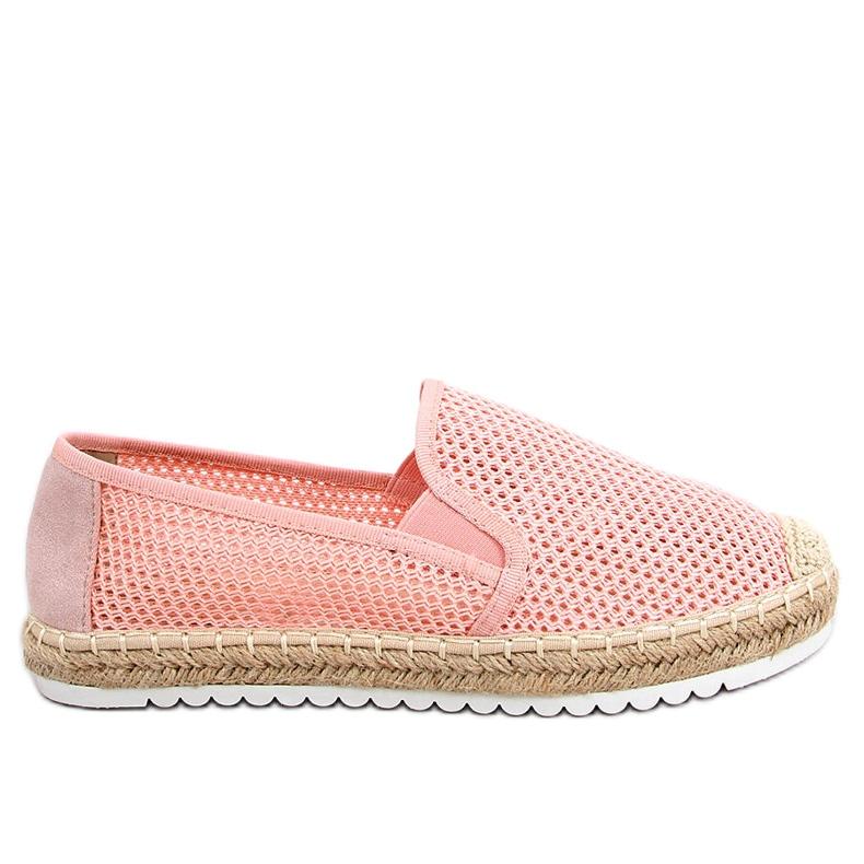 Slip-on espadryle różowe BB03P Pink