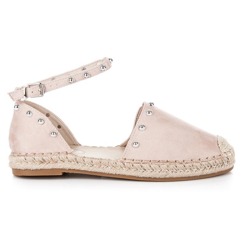 Seastar Sandały płaskie espadryle brązowe